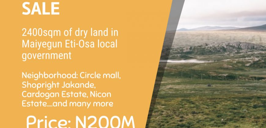 LAND FOR SALE AT MAIYEGUN
